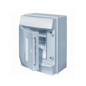 Mistral65 бокс настенный 4М непрозрачная дверь (без клемм)