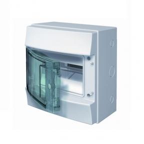 Бокс настенный 8М прозрачная дверь Mistral65 (с клемм)