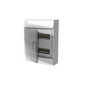 Бокс настенный Mistral41 24М прозрачная дверь (c клемм)