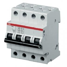 ABB Автоматический выключатель 4-полюсный SH204L C6