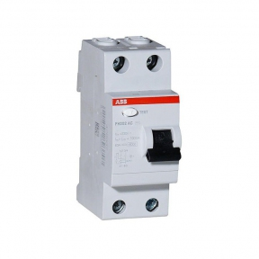 ABB Выключатель дифференциального тока 2 модуля FH202 AC-25/0,1