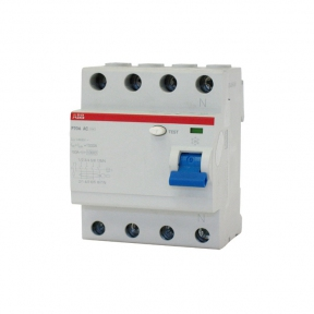 ABB Выключатель дифференциального тока 4 модуля FH204 AC-63/0,1