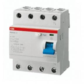 ABB Диф автоматический выключатель / УЗО 4 модуля F204 АС-63/0,1