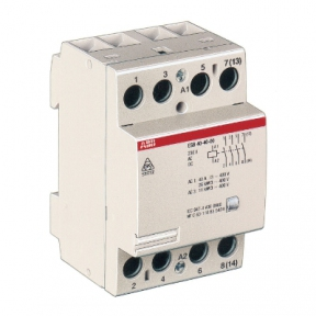 ABB Модульный контактор ESB-40-40 (40А АС1) 24В АС/DC SSTGHE3491102R0001