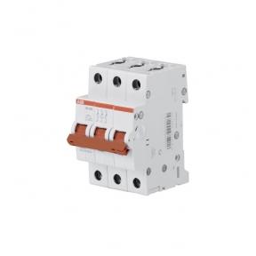 ABB Рубильник 3 полюсной SD203/16 рычаг красный