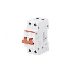 ABB Рубильник 2 полюсной SHD202/16 рычаг красный