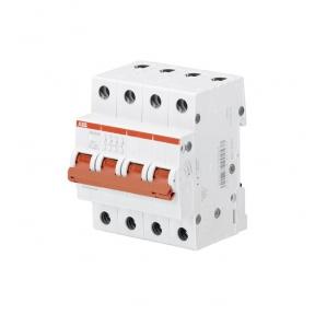 ABB Рубильник 4 полюсной SHD204/25 рычаг красный