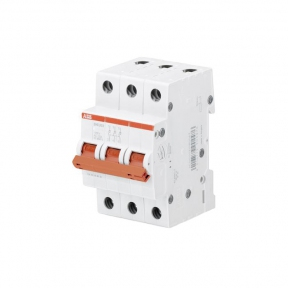ABB Рубильник 3 полюсной SHD203/40 рычаг красный