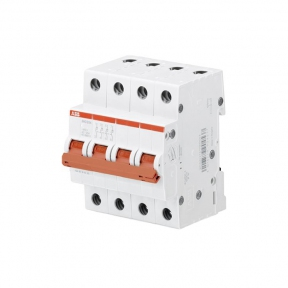 ABB Рубильник 4 полюсной SHD204/50 рычаг красный