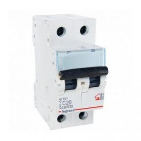 Legrand 404043 Автоматический выключатель ТХ3 С20А 2п 6000