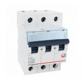 Legrand 404058 Автоматический выключатель ТХ3 С25А 3п 6000