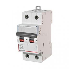 Legrand 407279 Автоматический выключатель DX3-E C25 2П 6000/6kA