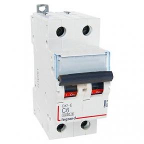 Legrand 407274 Автоматический выключатель DX3-E C6 2П 6000/6kA