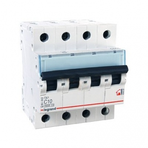Legrand 404068 Автоматический выключатель ТХ3 С10А 4п 6000