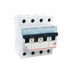 Legrand 404071 Автоматический выключатель ТХ3 С20А 4п 6000