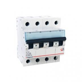 Legrand 404072 Автоматический выключатель ТХ3 С25А 4п 6000