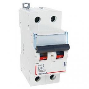 Legrand 407281 Автоматический выключатель DX3-E C40 2П 6000/6kA