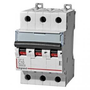 Legrand 407289 Автоматический выключатель DX3-E C10 3П 6000/6kA