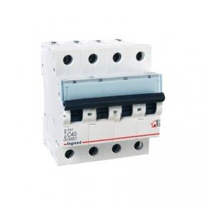 Legrand 404074 Автоматический выключатель ТХ3 С40А 4п 6000