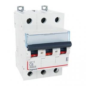 Legrand 407288 Автоматический выключатель DX3-E C6 3П 6000/6kA