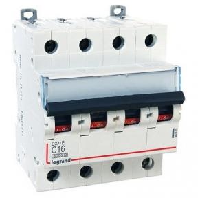 Legrand 407305 Автоматический выключатель DX3-E C16 4П 6000/6kA