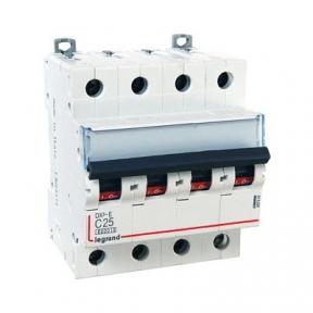 Legrand 407307 Автоматический выключатель DX3-E C25 4П 6000/6kA