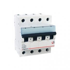 Legrand 404076 Автоматический выключатель ТХ3 С63А 4п 6000
