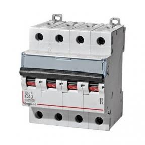 Legrand 407309 Автоматический выключатель DX3-E C40 4П 6000/6kA