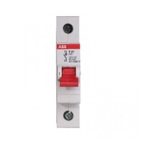 ABB Рубильник 1 полюсной Е201 45А рычаг красный